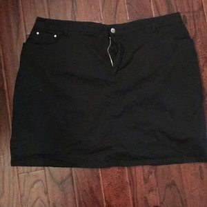 Black Twill Skort, Skirt with Shorts